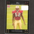 PATRICK WILLIS 2007 Topps Rookie Card - 49ers & Ole Miss