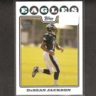 DeSEAN JACKSON 2008 Topps Rookie Card - Eagles & Cal Golden Bears
