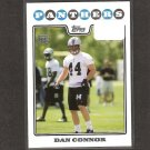 DAN CONNOR 2008 Topps Rookie Card - Carolina Panthers & Penn State Nittany Lions