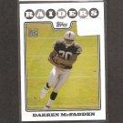 DARREN McFADDEN 2008 Topps Rookie Card - Raiders & Arkansas Razorbacks