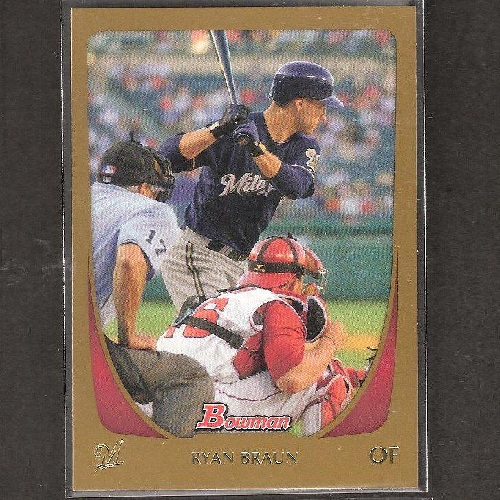 RYAN BRAUN - 2011 Bowman Gold - Milwaukee Brewers