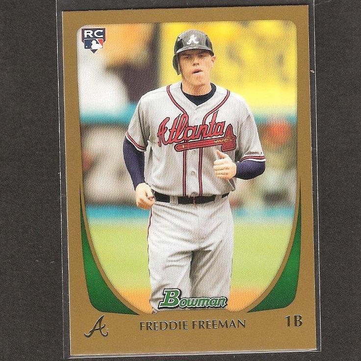 FREDDIE FREEMAN - 2011 Bowman Gold - Atlanta Braves