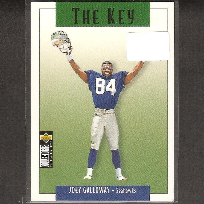 JOEY GALLOWAY - 1995 Collector's Choice The Key - Seahawks, Cowboys & Ohio State Buckeyes