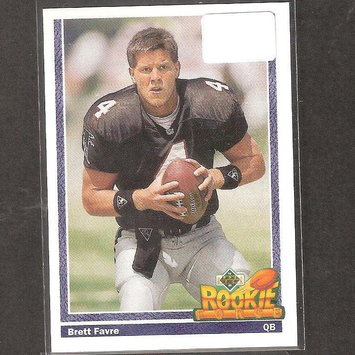 BRETT FAVRE - 1991 Upper Deck - Packers, Vikings & Southern Miss