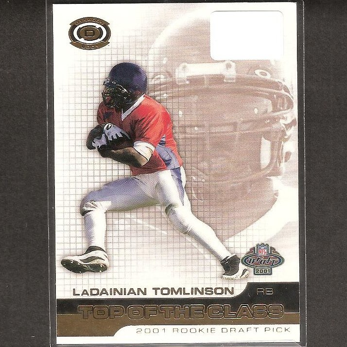 LaDAINIAN TOMLINSON - 2001 Pacific Dynagon Rookie - NY Jets, Chargers & TCU Horned Frogs