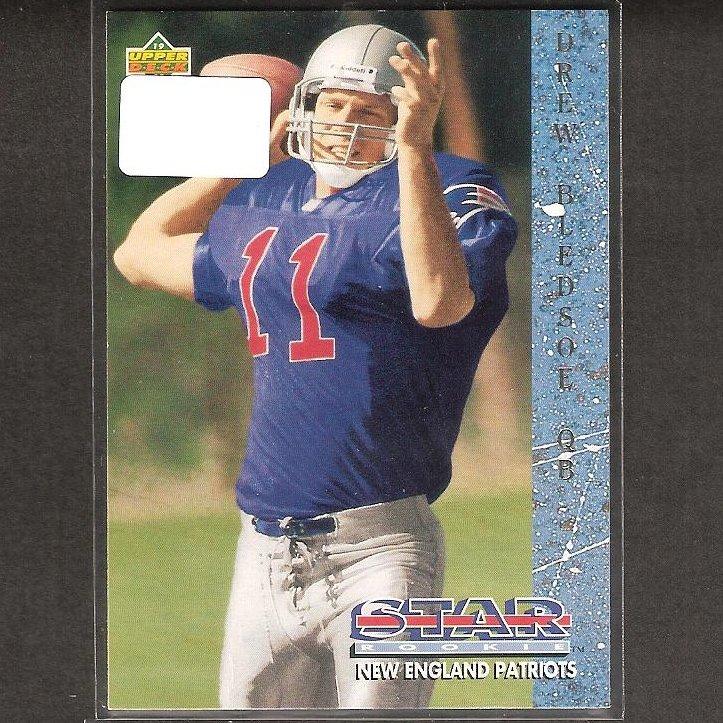 DREW BLEDSOE - 1993 Upper Deck Rookie Card - Patriots, Cowboys & Washington State Cougars
