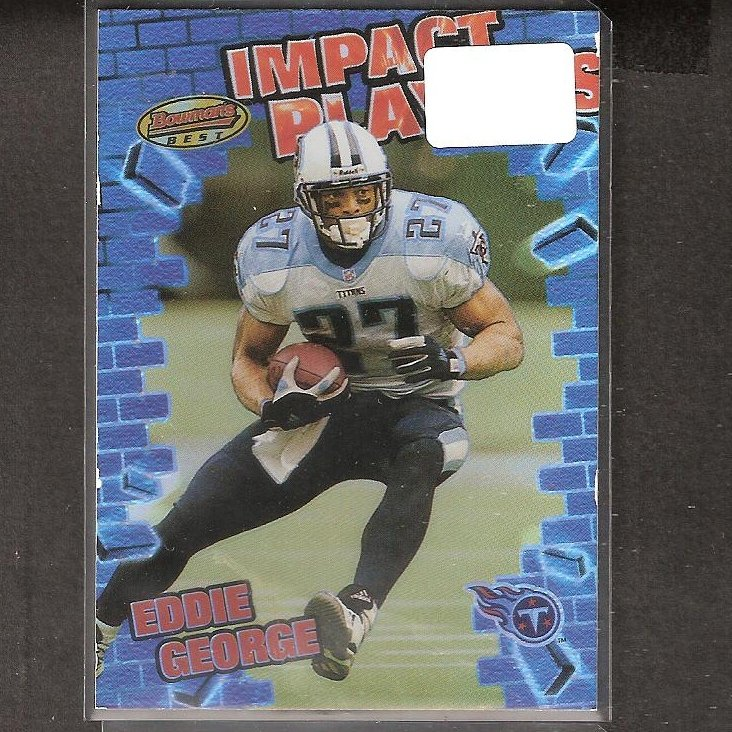 EDDIE GEORGE - 2001 Bowman's Best Impact Players- Titans & Ohio State Buckeyes