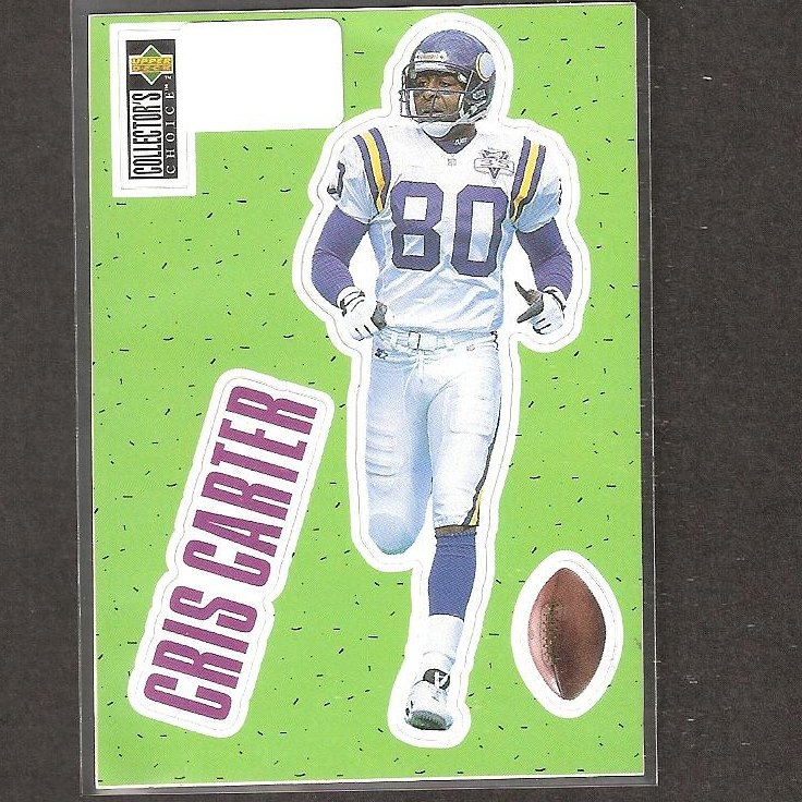 CRIS CARTER - 1996 Upper Deck Collector's Choice Stick-Um - Eagles, Vikings & Ohio State Buckeyes