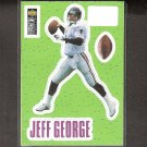 JEFF GEORGE - 1996 Upper Deck Collector's Choice Stick-Um - Falcons & Illinois Fighting Illini