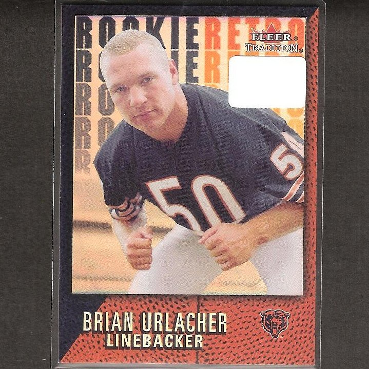 BRIAN URLACHER - 2000 Fleer Tradition Rookie Retro - University of New Mexico & Chicago Bears