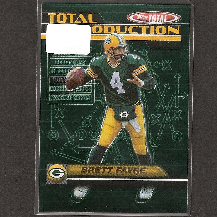BRETT FAVRE - 2003 Topps Total Total Production - Packers, Vikings & Southern Mississippi