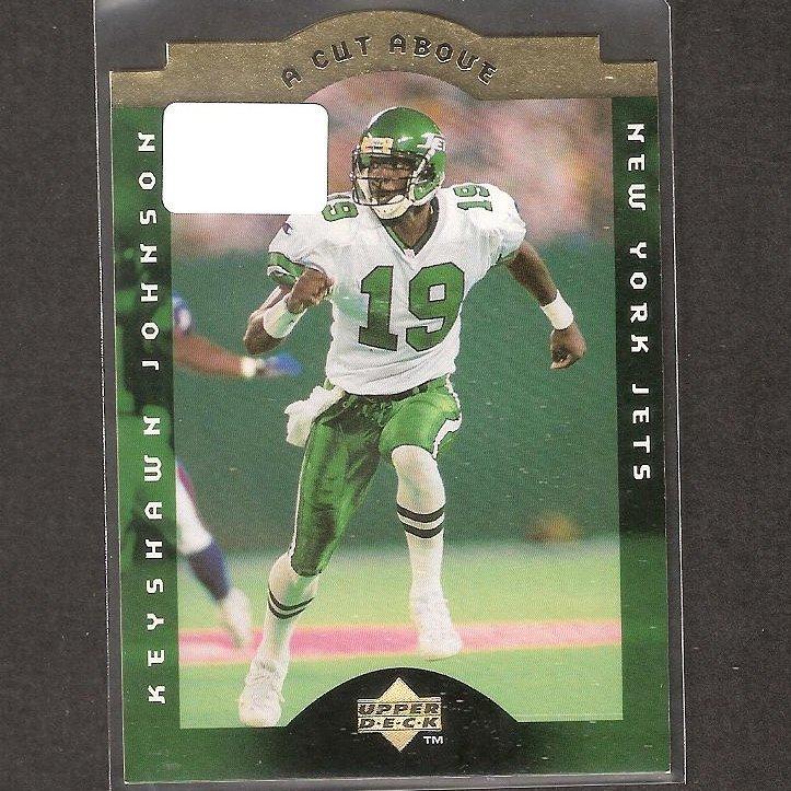KEYSHAWN JOHNSON - 1996 Upper Deck A Cut Above Rookie - NY Jets, Buccaneers & USC Trojans