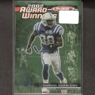 MARVIN HARRISON - 2003 Topps Total Award Winners - Colts & Syracuse Orangemen
