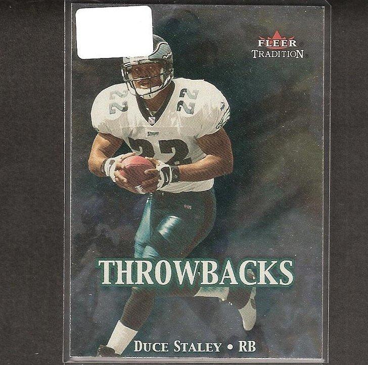 DUCE STALEY - 2000 Fleer Tradition Throwbacks - Eagles & South Carolina Gamecocks