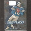CHARLIE BATCH - 2000 Fleer Tradition Throwbacks - Lions, Steelers & Eastern Michigan