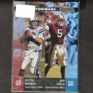 PEYTON MANNING & JEFF GARCIA - 2001 Bowman's Best Performers - Colts & 49ers