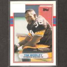 TIM WORLEY - 1989 Topps Traded ROOKIE Card - Steelers & Georgia Bulldogs