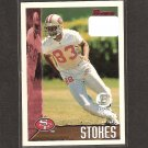 JJ STOKES 1995 Bowman First Round Pick Rookie - 49ers & UCLA Bruins