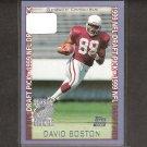 DAVID BOSTON - 1999 Topps Season Opener Rookie Card - Arizona Cardinals & Ohio State Buckeyes