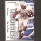 RON DAYNE - 2000 Skybox Impact RC - Giants & Wisconsin Badgers