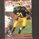 TSHIMANGA BIAKABUTUKA 1996 Classic RC - Carolina Panthers & Michigan Wolverines