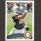 VINCENT BROWN 2011 Topps Rookie Card - Chargers & San Diego State Aztecs