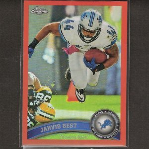 JAHVID BEST 2011 Topps Chrome ORANGE Refractor - Detroit Lions & Cal Golden Bears
