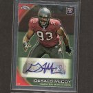 GERALD McCOY 2010 Topps Chrome Autograph Rookie Card RC - Buccaneers & Oklahoma Sooners