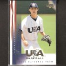 DUSTIN PEDROIA 2002 Upper Deck USA Rookie Card RC - Red Sox & Arizona State Sun Devils