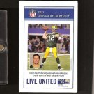 AARON RODGERS 2011 Official NFL Pocket Schedule - Green Bay Packers