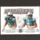 EDMOND GATES & DANIEL THOMAS 2011 Topps Legends Legendary Combos Rookie RC - Miami Dolphins