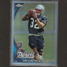 DEVIN McCOURTY 2010 Topps Chrome Refractor Rookie RC - Patriots & Rutgers Scarlet Knights