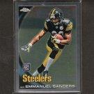 EMMANUEL SANDERS 2010 Topps Chrome Rookie RC - Steelers & SMU Mustangs