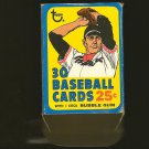 1972 Topps BASEBALL Cello Pack Empty 25 Cent Box