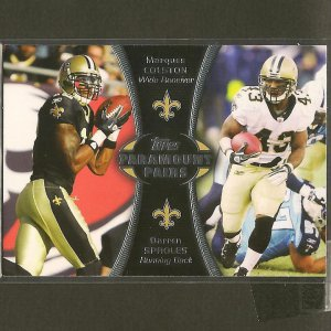 MARQUES COLSTON & DARREN SPROLES 2012 Topps Paramount Pairs RC - New Orleans Saints