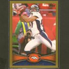 ERIC DECKER 2012 Topps Gold Border # 1754/2012 - Broncos & Minnesota Gophers