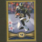 BRIAN QUICK 2012 Topps Gold Border # 132/2012 - St. Louis Rams & Appalachian State