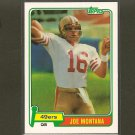 JOE MONTANA 2012 Topps Rookie REPRINT - 49ers & Notre Dame Fighting Irish