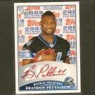 BRANDON PETTIGREW 2009 Topps Premier RED Autograph Rookie RC - Detroit Lions & Oklahoma State