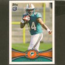 LAMAR MILLER 2012 Topps Rookie Card RC - Dolphins & Miami Hurricanes