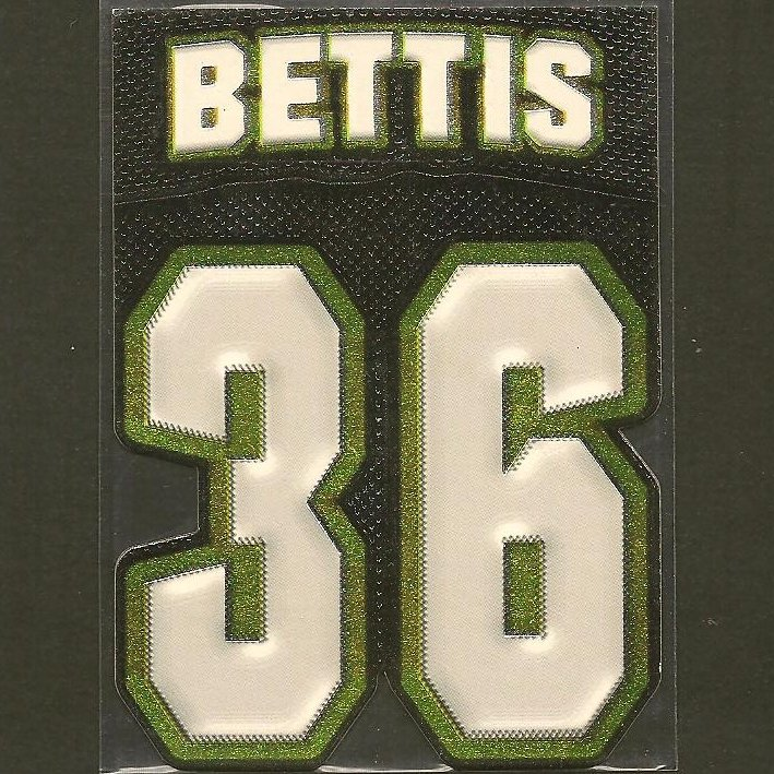 JEROME BETTIS - 1997 Pacific Big Numbers - Notre Dame & Steelers