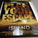 THE ISLAND Authentic Movie Poster - Double Sided - Ewan McGregor, Scarlett Johansson, Buscemi - 2005