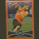 JORDAN WHITE 2012 Topps Chrome ORANGE Refractor RC - NY Jets & Western Michigan
