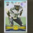 BRANDON TAYLOR 2012 Topps Chrome Refractor RC - Chargers & LSU Tigers