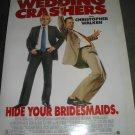 WEDDING CRASHERS Authentic Movie Poster - Double Sided - Vince Vaughn, Owen Wilson, Rachel McAdams