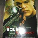 BOURNE SUPREMACY Authentic Movie Poster - Double Sided - Matt Damon, Julia Stiles - 2004