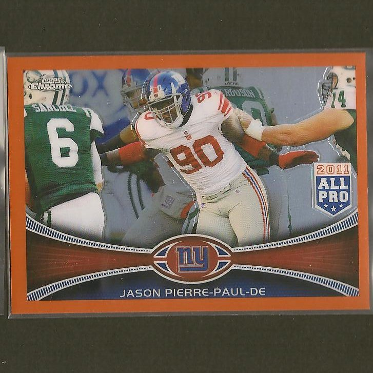 Jason Pierre Paul Rookie: JASON PIERRE-PAUL 2012 Topps Chrome Orange Refractor