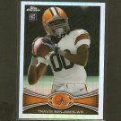 TRAVIS BENJAMIN 2012 Topps Chrome Refractor RC Rookie - Cleveland Browns & Miami Hurricanes