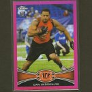DAN HERRON 2012 Topps Chrome PINK Refractor Breast Cancer - Colts & Ohio State Buckeyes