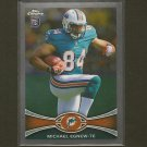MICHAEL EGNEW 2012 Topps Chrome Rookie Card RC - Dolphins & Missouri Tigers